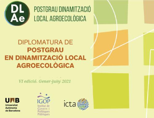 Forma't en Dinamització Local Agroecològica! Fins el 15/12